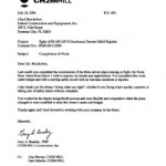 Image scan of CH2MHILL Completion of Work Testimonial and Review